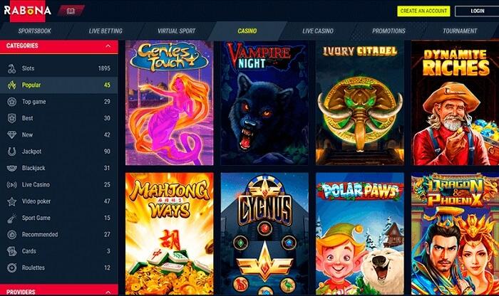 rabona-casino-lobby